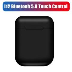 i12 TWS wireless headphones bluetooth 5.0 earphone   for iPhone xiaomi Black