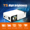 T5 Portable LED Projector 4K 2600 Lumens 1080P HD Video Projector simultaneous mobile screen(wifi version) White