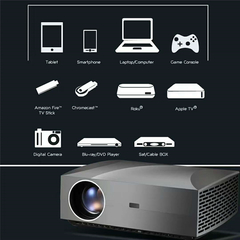 F30 LCD Projector FHD 1920 x 1080P 4200 Lumens 50000hrs Lamp Life Home Theater Projector F30 basic version