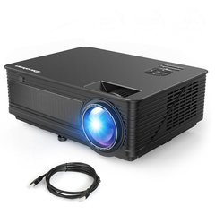 M5 Projector 1280 x 768 1080P Full HD Support 200 inch Projection Basic version Black