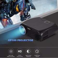 GP100 LCD Projector Full HD 3200 Lumen 1080P WiFi LED LCD Home Theater Cinema Video Projector GP100 basic version black