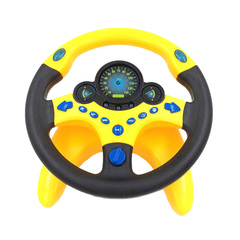 Tik Tok Copilot Simulated Steering Wheel Toy Children Educational Sounding Toy Small Steering Wheel Simulated Steering Wheel With Base As Picture