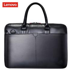 ThinkPad Lenovo T300 Leather Single Shoulder Backpack Lenovo Single Shoulder Bag 14-inch Laptop Bag black