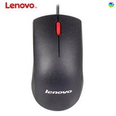 Lenovo cable mouse office mouse Lenovo red dot M120Pro cable mouse notebook desktop mouse black .