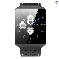 Dihu band watch CK19 Suitable for huawei, xiaomi and other mobile phones black .