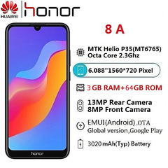 Honor Global version Huawei Honor 8A 3GB RAM+64GB ROM Smartphone black