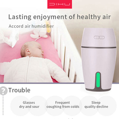 DIHU J1 Air Humidifier Clean Air Care Skin Humidifier Office High-end atmosphere white