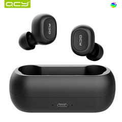 Qcy T1 mini wireless bluetooth 5.0 music earphone - black xiaomi similar wireless earphone black