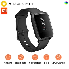 Xiaomi AMAZFIT Bip Youth GPS Bluetooth 4.0 IP68 Smart Watch black 110+85mm