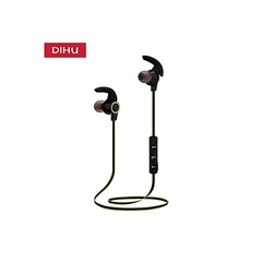 DIHU Metal  Sport Bluetooth Earphone  Black black
