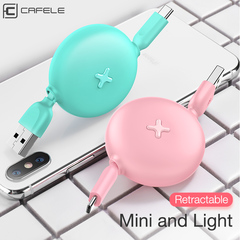 USB Fast Charging Cable for Type-c Mobile Phone Charged Creative Telescopic Data Cable green type-c