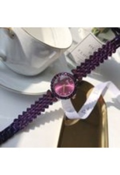 Automatic mechanical watch, 2019 new fashion charm, strap with diamond trend women's watch Silver one size