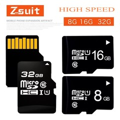 Well-known brand Z-suit high speed solid state 32GB 64GB TF card memory card Micro-SD card Black Z-suit 16gb micro sd/tf card