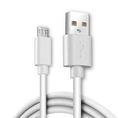 Quick Charge Data Cable Two-in-One Mobile Phone USB Cord for Android or iPhone or Type-C Interfaces white android