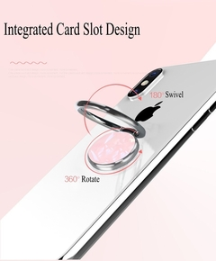 Smart phone holder cellphone ring hook phone secure grip kickstand ring buckle pink pink rotates 360° & swivels 180°