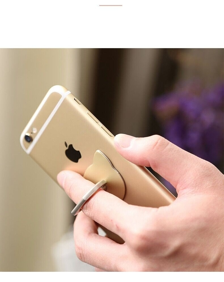 Cellphone ring hook kickstand safe & secure grip mobile phone holder mount ring buckle grip gold rotates 360° & swivels 180°