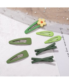 BB pin girl flower hairpins lovely hair style hair band hairpins for children and ladies green