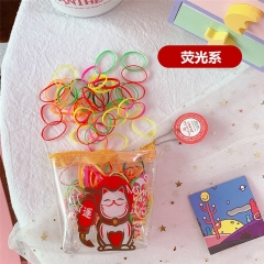 Children adult tie hair rubber band hair rope child color headwear rope hair ring tough hair band multi-color