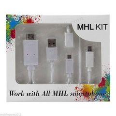 MHL Kit Supported in All MHL Smartphones 6.5 Feet (2M) white small