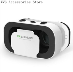VR Glasses 3D Virtual Reality Play Game Console Movie For All Smart Phone With Bluetooth Controller With Bluetooth ControllerA 156×101×88MM 210g
