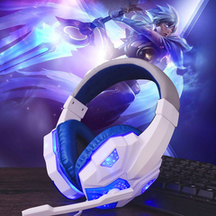 Headphones Internet cafes Headphones Headphones E-sports Headphones Gaming Headset Computer Headsets WHITE +BLUE
