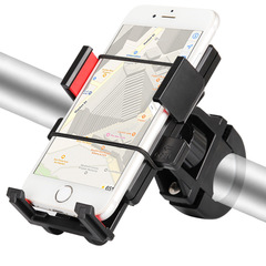 Bicycle mobile phone bracket outdoor mountain bike riding mobile phone navigation bracket red general purpose