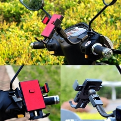 Electric motorcycle riding mobile phone navigation bracket red general purpose