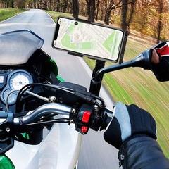 Electric motorcycle riding mobile phone navigation bracket black general purpose