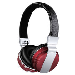 Bluetooth Headset Wireless Headphone Megabass Bt008 Foldable Quality Sounds Over-ear Stereo Headsets Red