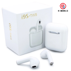 i9s Twins earbuds bluetooth 5.0 TWS wireless earphone Stereo In-ear Twins Headset for Android iPhone white