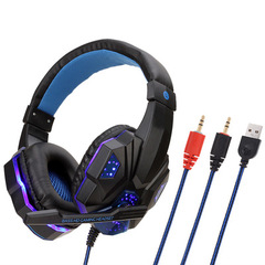 Professional Wired Heavy Bass Gaming Headphone For Computer PS4 SOYTO SY830 Headset Blue PC