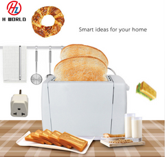 2 Slice Electronic 6 Mode 750W Stainless Steel Whtie Toaster White