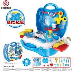 Kids Childrens 26 Pcs Role Play Doctor Nurses Toy Medical Set Kit Gift Toys Hard Carry Case Medical one