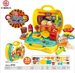 Kids Play Dough Cinema Snack Bar Play Set 35 Pcs Pretend Play House Toy Snack Bar one