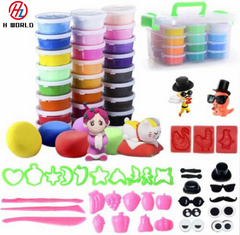 24 Colors Air Drying Polymer Modeling Ultra Light Soft Clay Plasticine one one