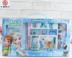 Kids 15 Pieces Pencil Case Stationary School Cartoon Box Set Party Loot Bag Birthday Gift Frozen