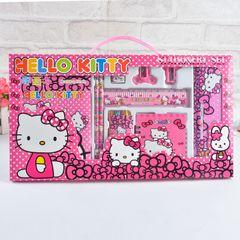 Kids 15 Pieces Pencil Case Stationary School Cartoon Box Set Party Loot Bag Birthday Gift Hello Kitty