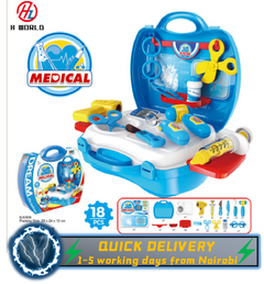 HW Kids Childrens 26 Pcs Role Play Doctor Nurses Toy Medical Set Kit Gift Toys Hard Carry Case Medical one