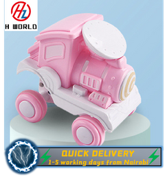 HW Pull Back Vehicles Toy Cars 360 Degree Rotating Off-Road Vehicle Toy Pull Back Car for Boys Girls pink one size