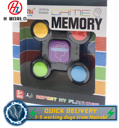 HW Electronic Memory Game Teaches Persistence |Educational Indoor Toy for Kids | Fun Travel Game Memory Game one size