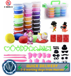 HW 24 Colors Air Drying Polymer Modeling Ultra Light Soft Clay Plasticine DIY Creative Gift one one