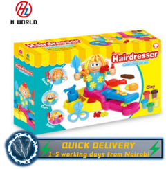 HW Children Modeling Crafts Hairdresser Plasticine Clay Tubs and Shapes Toy Creative Gift for Kids one one