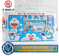 HW Kids 15 Pieces Pencil Case Stationary School Cartoon Box Set Party Loot Bag Birthday Gift Doraemon