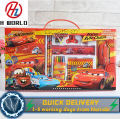 HW Kids 15 Pieces Pencil Case Stationary School Cartoon Box Set Party Loot Bag Birthday Gift Cars