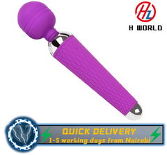 Sex Toy FANTASY AV 10 Vibrateing Frequency Modes Waterproof Remote Wand Massager Sex Toys Purple vibrator
