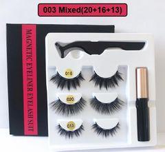 2020 Black Friday HW 3 Pairs Magnetic Eyelash Liquid Eyeliner & Tweezer Set Waterproof 5PCS/Set 003(16+20+13)