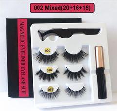 2020 Black Friday HW 3 Pairs Magnetic Eyelash Liquid Eyeliner & Tweezer Set Waterproof 5PCS/Set 002(20+16+15)