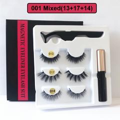 2020 Black Friday HW 3 Pairs Magnetic Eyelash Liquid Eyeliner & Tweezer Set Waterproof 5PCS/Set 001(13+17+14)