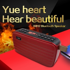 Bluetooth Mini Wireless Portable Speaker with FM Radio USB Input red one size