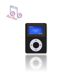 B&B New mini portable music MP3 player External sound shock stainless steel chassis more high-grade black